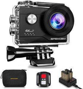 apexcam 4K 20MP WiFi Caméra Sport dashcam